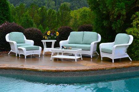 Tortuga Sea Pines FN21500WRAVES Outdoor Patio Set White, FN21500WRAVES Main Image