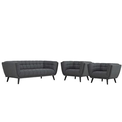 Modway Bestow EEI2977GRYSET Living Room Set Gray, Sofa and Armchairs