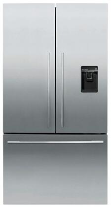 Fisher Paykel Contemporary RF201ADUSX5N French Door Refrigerator Stainless Steel, Front View