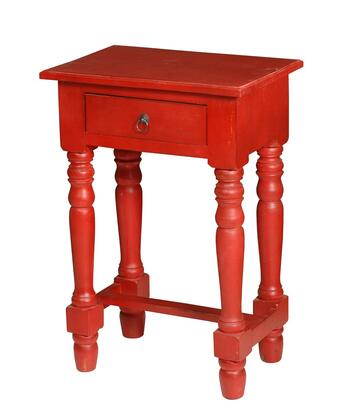 Sunset Trading Shabby Chic Cottage CCTAB1646LDRD Desk Red, Main Image