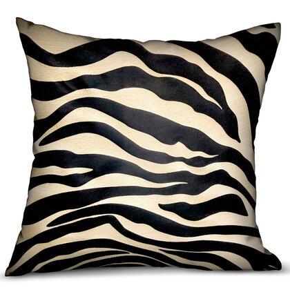 Plutus Brands Black Zebra PBRA23421616DP Pillow, PBRA2342