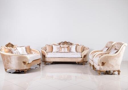 European Furniture Rosabella 36031SLC Living Room Set Beige, Main Image