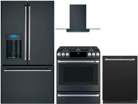 Cafe  1066436 Kitchen Appliance Package Black, Main image