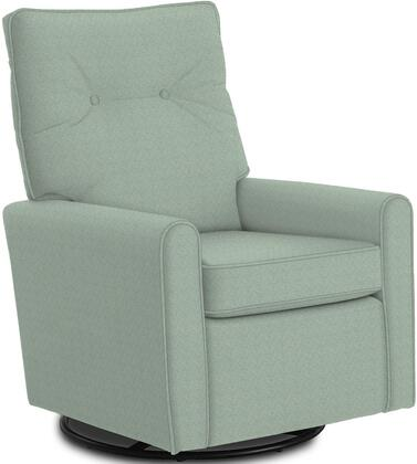 Phylicia Collection 4007-21082 Recliner with 360-Degrees Swivel Glider Metal Base  Removable Back  High Backrest  Zipper Access and Fabric Upholstery