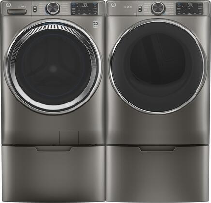 GE  1333035 Washer & Dryer Set Satin Nickel, 1