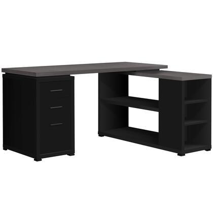 I 7419 Computer Desk – Black / Grey Top Left/Right Facing