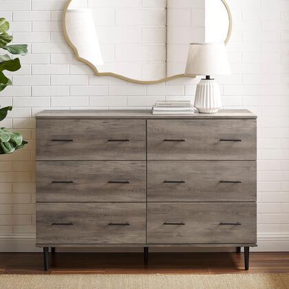 BU52SV6DGW Modern Wood 6-Drawer Buffet – Gray