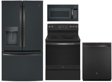 GE 869244 Kitchen Appliance Package & Bundle Black Slate, main image