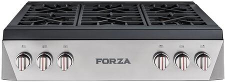 Forza  FRT366GN Gas Cooktop Stainless Steel, FRT366GN Professional Range Top