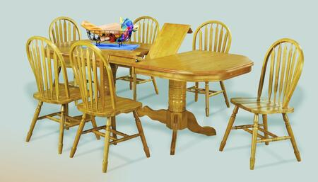 Sunset Trading Sunset Oak Selections DLUTCP4284820LO7PC Dining Room Set Brown, Main Image