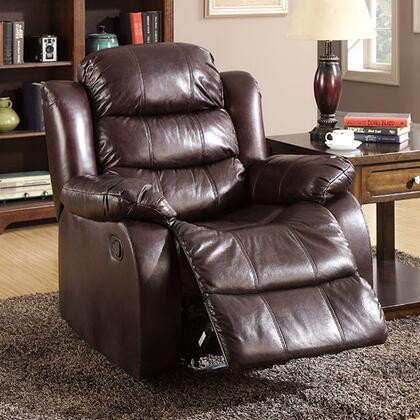Benzara Berkshire BM123480 Recliner Chair Brown, BM123480