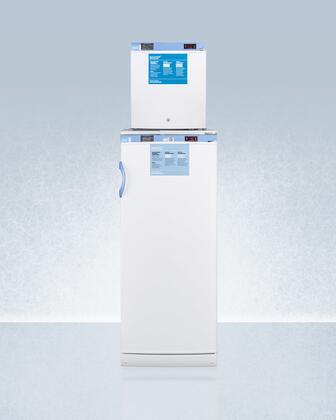 AccuCold  FFAR10FS24LSTACKMED2 Top Freezer Refrigerator White, FFAR10FS24LSTACKMED2 All-Refrigerator/All-Freezer Combination
