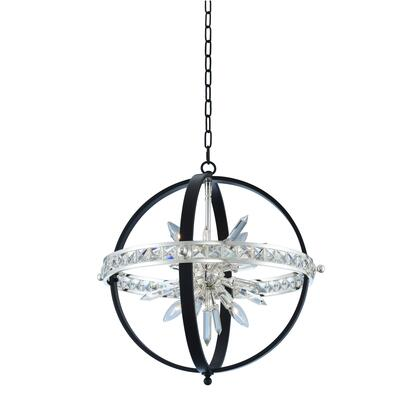 Angelo 033650-050-FR001 23″ Pendant in Matte Black w/ Polished Silver Finish with Firenze