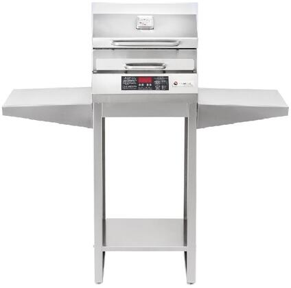 Freestanding The Safire Electric Grill with Standard Grill Stand  in 304 Stainless Steel  224 sq. inches  Digital Controls  115 Volts  and Automatic