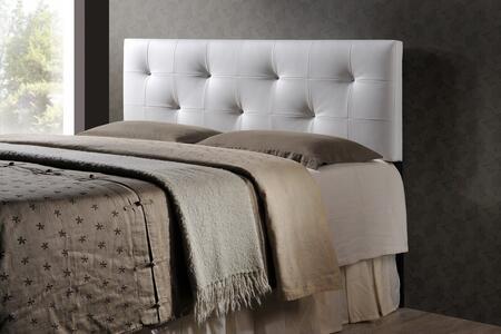 Baxton Studio Dalini BBT6432WHITEHBFULL Headboard White, BBT6432 1