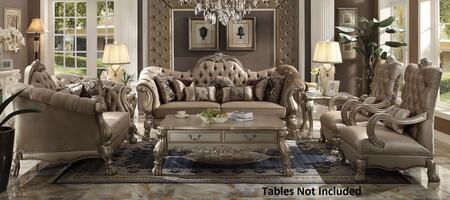 Acme Furniture Dresden 52090SL2C Stationary Sofa Gold, 4 PC Set