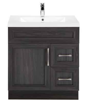 Cutler Kitchen and Bath Classic CCKATR30RHT Sink Vanity Gray, Main Image