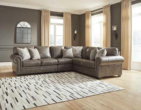Signature Design by Ashley Roleson 58703554649 Sectional Sofa Brown, Main Image