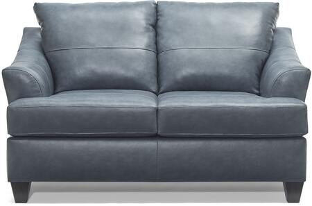 2063-02 SOFT TOUCH SHALE 63″ Loveseat with Tufted Back Cushions and Leather Upholstery in