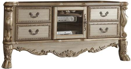 Acme Furniture Dresden 91333 52 in. and Up TV Stand Gold, TV Console