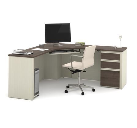 Bestar Furniture 9989952 Desk, bestar prestige+ 99899 52 white chocolate antigua  1