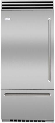 BlueStar  BBB36L2 Bottom Freezer Refrigerator Stainless Steel, Main Image
