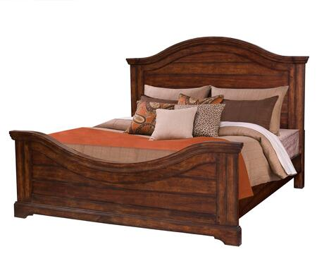 American Woodcrafters Stonebrook 780066PAN Bed Brown, Main Image