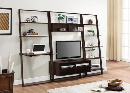 89807 Arlington Desk  Wall Bookcases And Entertainment Center  in Dark