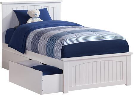 Atlantic Furniture Nantucket AR8216112 Bed White, AR8216112 SILO BD2 30
