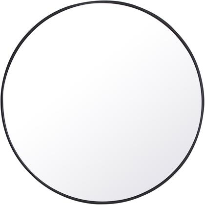 MR4044BK Metal Frame Round Mirror 42″ Black