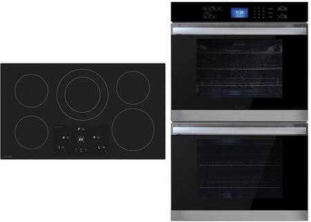 """2 Piece Kitchen Appliance Package with SDH3652DB 36"""" Electric Induction Cooktop and SWB3052DS 30"""" Electric Double Wall Oven in"""