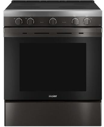 QSS740BNTS 30″ Smart Freestanding Electric Range with 4 Radiant Elements  5.7 cu. ft. Capacity  WiFi Connection and Hidden Bake Element in Black