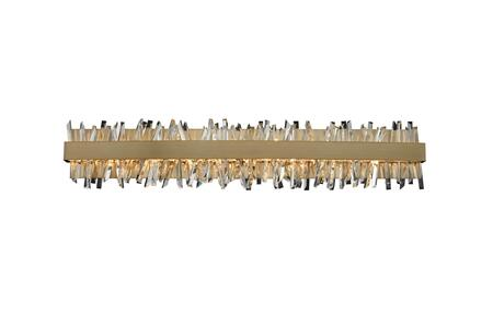 Glacier 030234-038 38″ LED ADA Bath in Brushed Champagne Gold Finish with Firenze Crystal Spears
