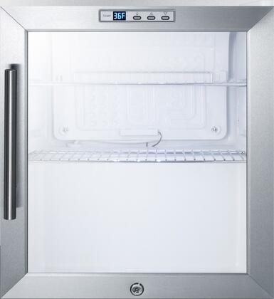 Summit  SCR215LBICSS Compact Refrigerator Stainless Steel, Main Image