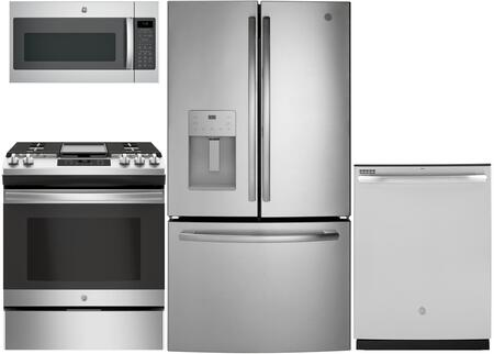 GE 975549 4 piece Stainless Steel Kitchen Appliances Package
