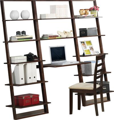 89805 Arlington Desk And 2 Wall Bookcases  in Dark