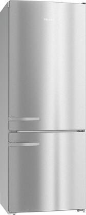 Miele KFN15943DE Bottom Freezer Refrigerator Stainless Steel, KFN15943DE Freestanding Fridge-Freezer