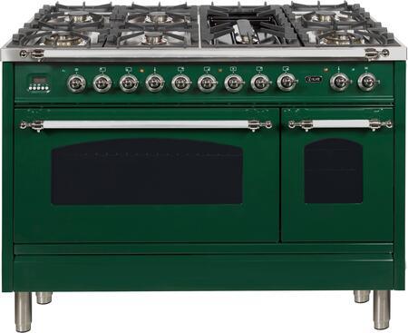 Ilve Nostalgie UPN120FDMPVSX Freestanding Dual Fuel Range Green, UPN120FDMPVSX Dual Fuel Gas Range