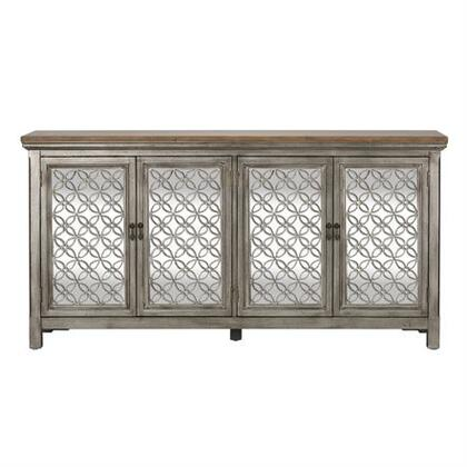 Westbridge Series Collection 2012-AC7236 4 door Cabinet White Dusty Wax Finish & Wire Brushed Gray includes Two Door Cabinet  Block Foot  Decorative
