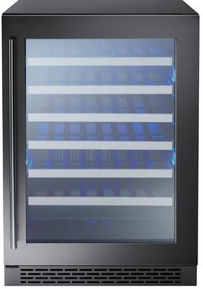 PRW24C01ABSG 24″ Presrv Single Zone Wine Cooler with Electronic Capacitive Touch Controls  Door Open Alarm  in Black Stainless