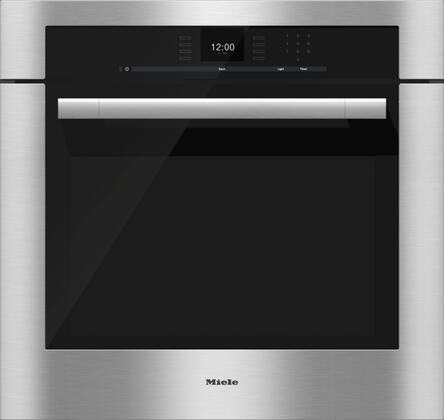 Miele SensorTronic H6580BP Single Wall Oven Stainless Steel, Main Image