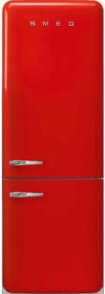 Smeg 50s Retro Style FAB38URRD Bottom Freezer Refrigerator Red, FAB38URRD 50's Style Refrigerator