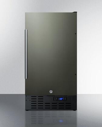 Summit  FF1843BKSADA Compact Refrigerator Black Stainless Steel, Main Image