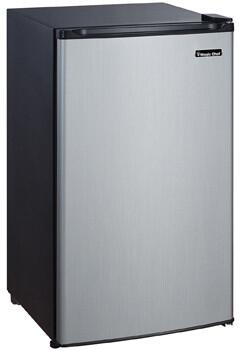 Magic Chef  MCBR350S2 Compact Refrigerator Stainless Steel, Main Image