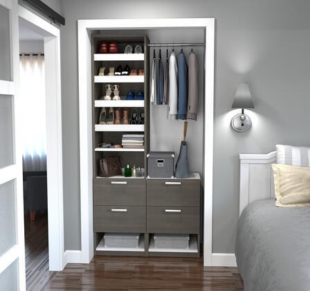 Bestar Furniture 8085247 Wardrobe, bestar cielo bark gray 80852 47 room
