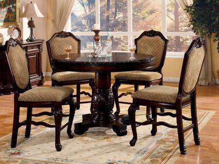 Acme Furniture Chateau de Ville 64082T4C Bar Table Set Brown, 5 PC Set