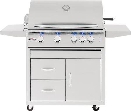 """Pro Series Fully Assembled Door & 2-Drawer Combo Cart for 32"""""""" Sizzler & Sizzler -  Summerset Grills, CARTSIZ32DC"""