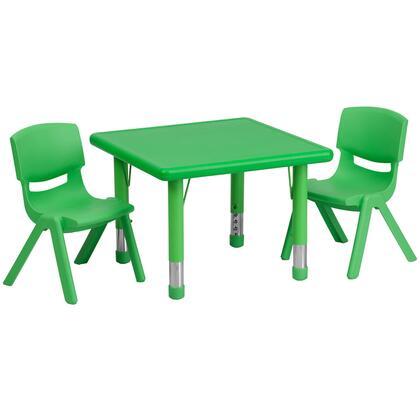 Flash Furniture YUYCX YUYCX00232SQRTBLGREENRGG Kid Table Green, YUYCX00232SQRTBLGREENRGG set