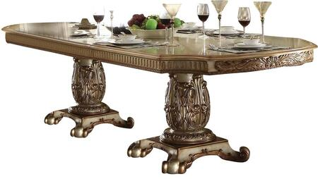 Acme Furniture Vendome 63000 Dining Room Table Gold, 1