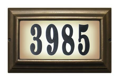 Qualarc Edgewood LTL1301ORBPN Address Plaques, LTL 1301 ORB PN